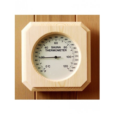 Harvia Deluxe Pine Encased Thermometer